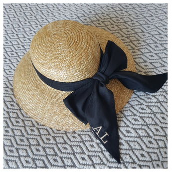 Straw Boat Hat