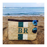 Hand Woven Double Stripe Clutch