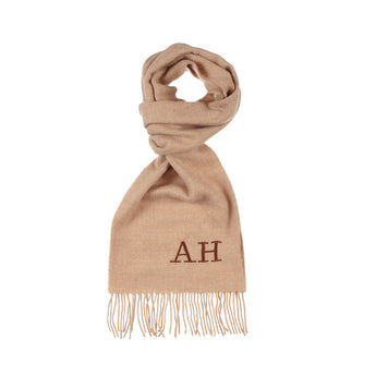 Beige Luxury Lambswool Scarf