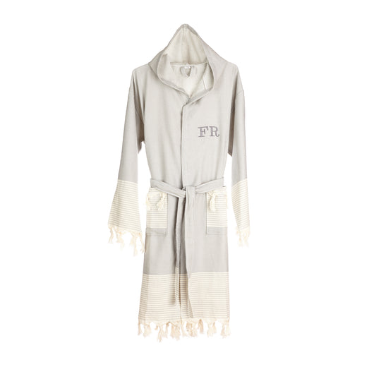 Grey Dressing Gown – Baal & Tanit