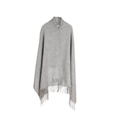 Grey Luxury Lambswool Wrap