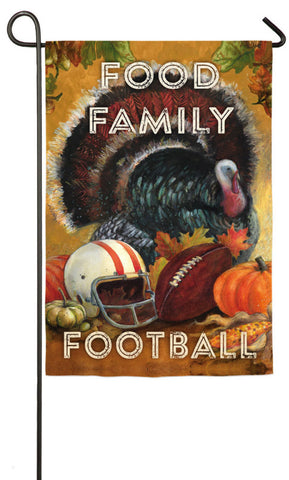 Food Family Football Garden Suede Flag