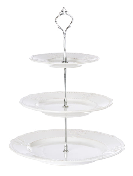 White Ceramic 3 Tier Server