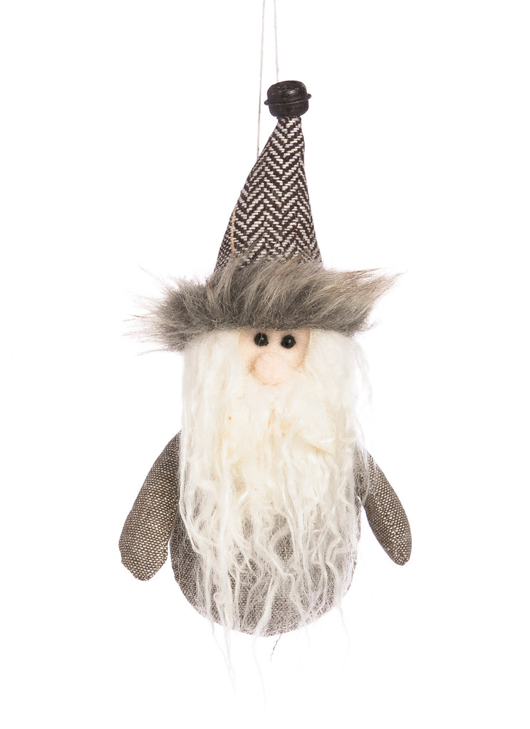 Plush Santa Ornament