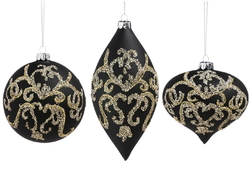 Gold Embellished Glass Ornament