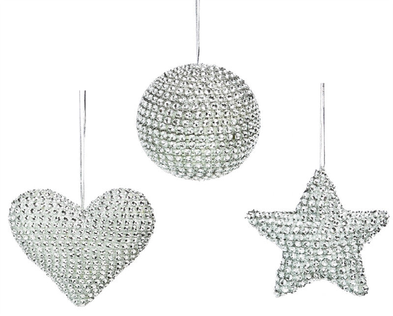 Silver Bling Ornaments