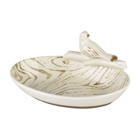 Soiree Oval Dish with Bird