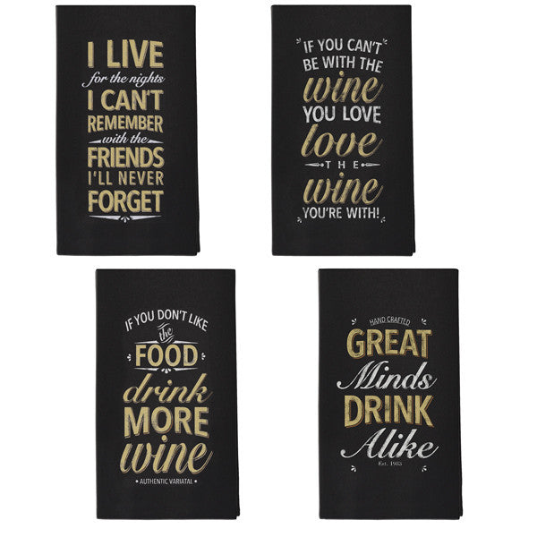Tea Towel w/Wine Quotes