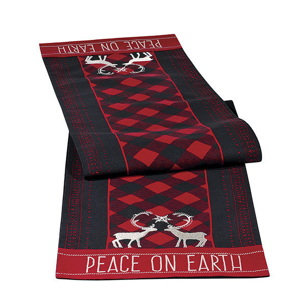 "Hoilday Lodge ""Peace On Earth"" Table Runner"