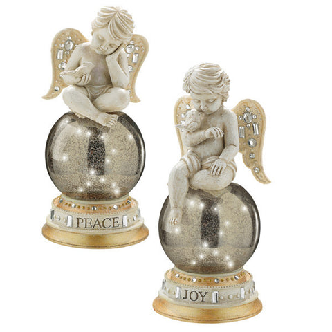 Cherub Opulent Figurines On Ball