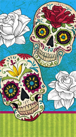 Day of the Dead Paper Guest Towel