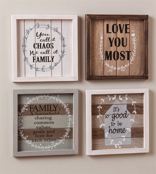Inspirational Family Wooden Wall Decor