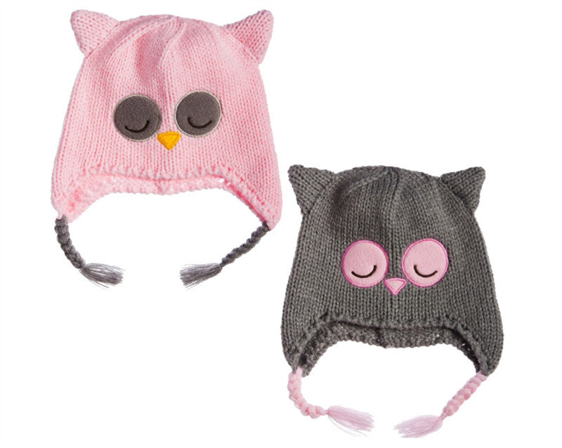 childrens Sleepy Owl Knit Hat
