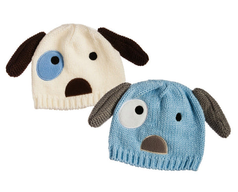 childrens Lil' Pup Knit Hat