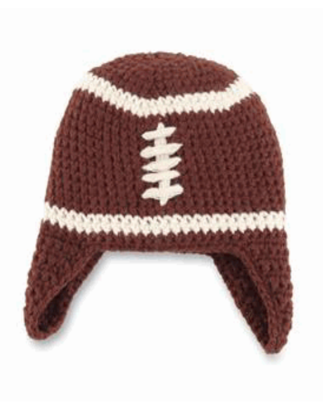 Childrens Chunky Knit Football Hat