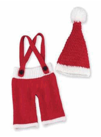 Childrens Santa Suspender and Hat Set
