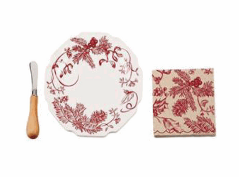 Holly / Toile Cheese Set
