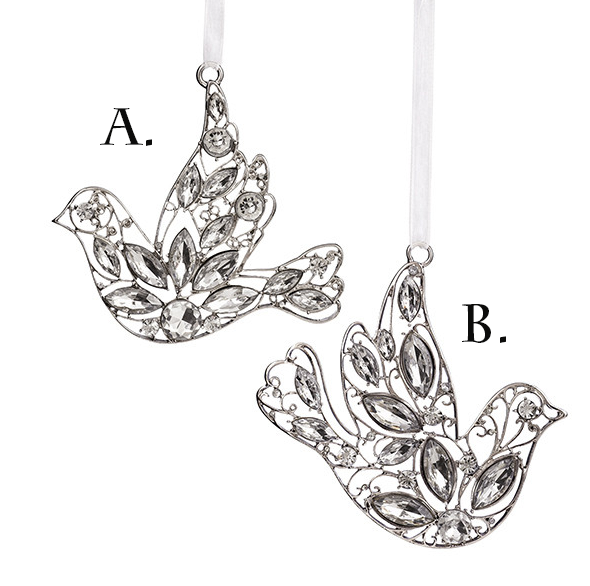 Dove Gem Ornaments