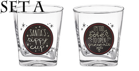 Tipsy Glasses Set of 2