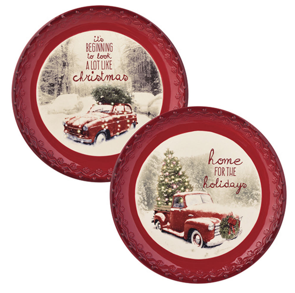 Hm 4 the Holidays Accent Deco Plates