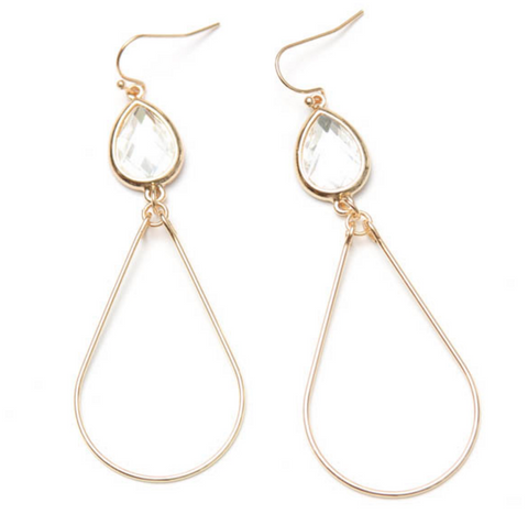 Gold Teardrop Earring