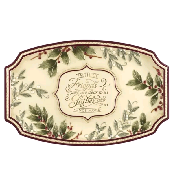 Faithful Friends Lg Platter