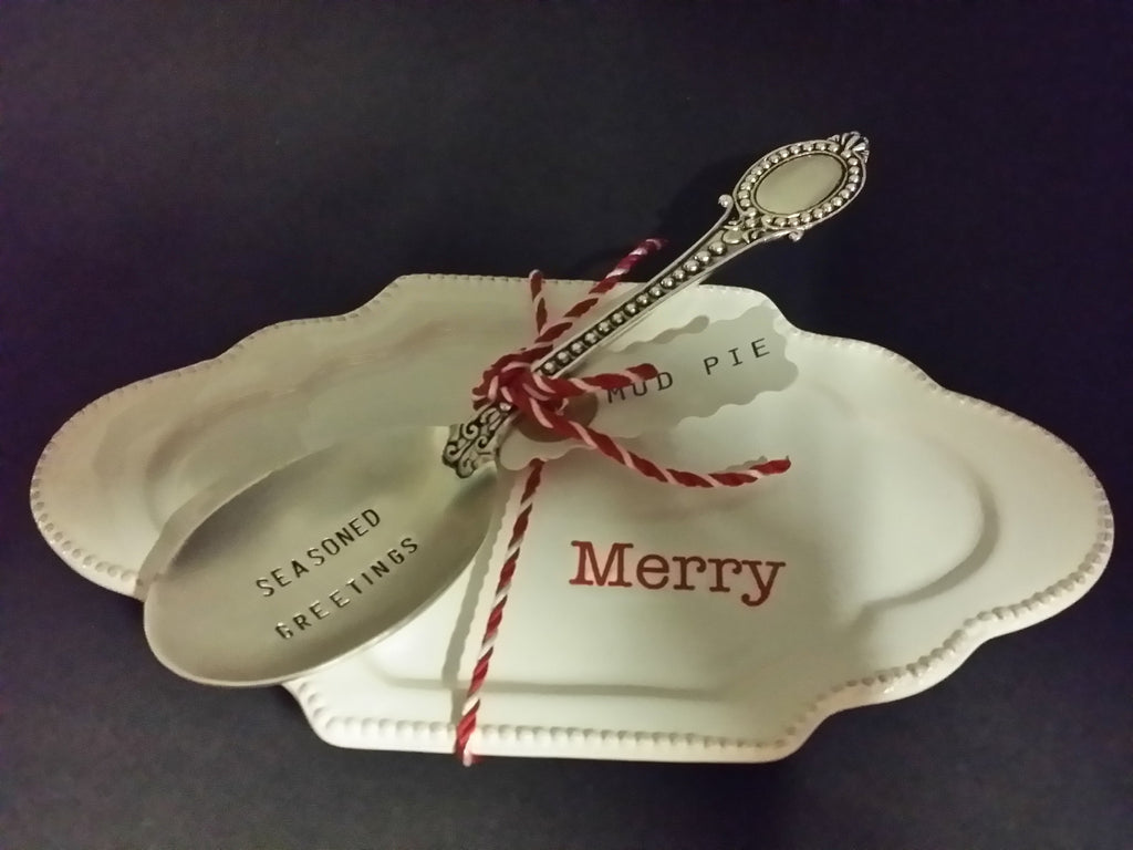 "Circa  ""MERRY"" spoon Rest"