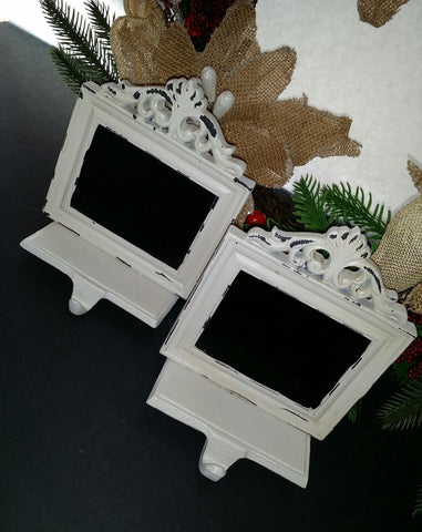 Shabby chic chalk Stocking holders