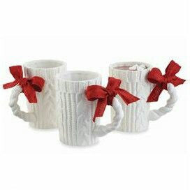 Knitted ceramic mug