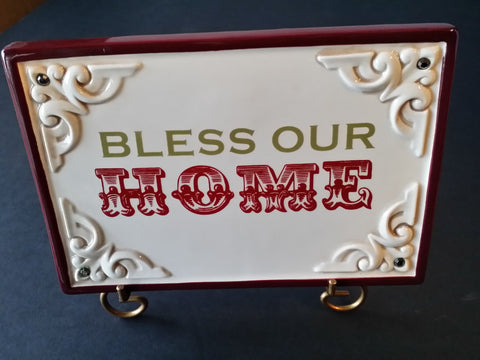 Bless Our Home Mini Plq
