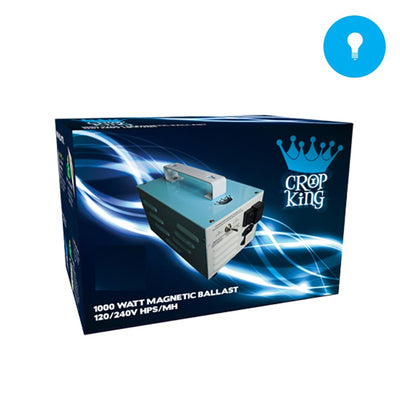 1000W Magnetic 120/240 HPS/HM Crop King Ballast - Grow Store