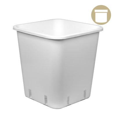 3 Gal. White Square Pot - Grow Store