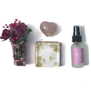 Rosebud Smudge, Rose Quartz, Rose Goats Milk Soap, Rose Hydrosol