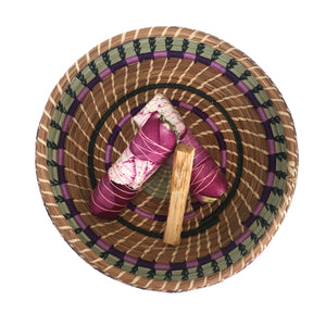 Large Pine Needle Basket With Sage And Palo Santo