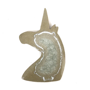 Gold Unicorn Shaped Crystal Coaster
