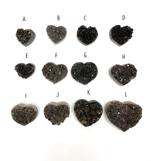 Druzy Crystals Shaped Like A Heart