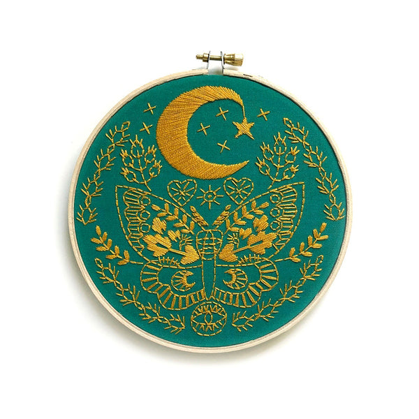 Lunar Cresent Moon Embroidery Kit