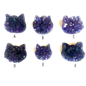 purple crystal cat head