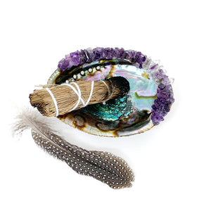 Crystal Abalone Shell For Sage Smudging