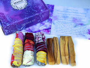 Sage and Palo Santo Smudge Kit
