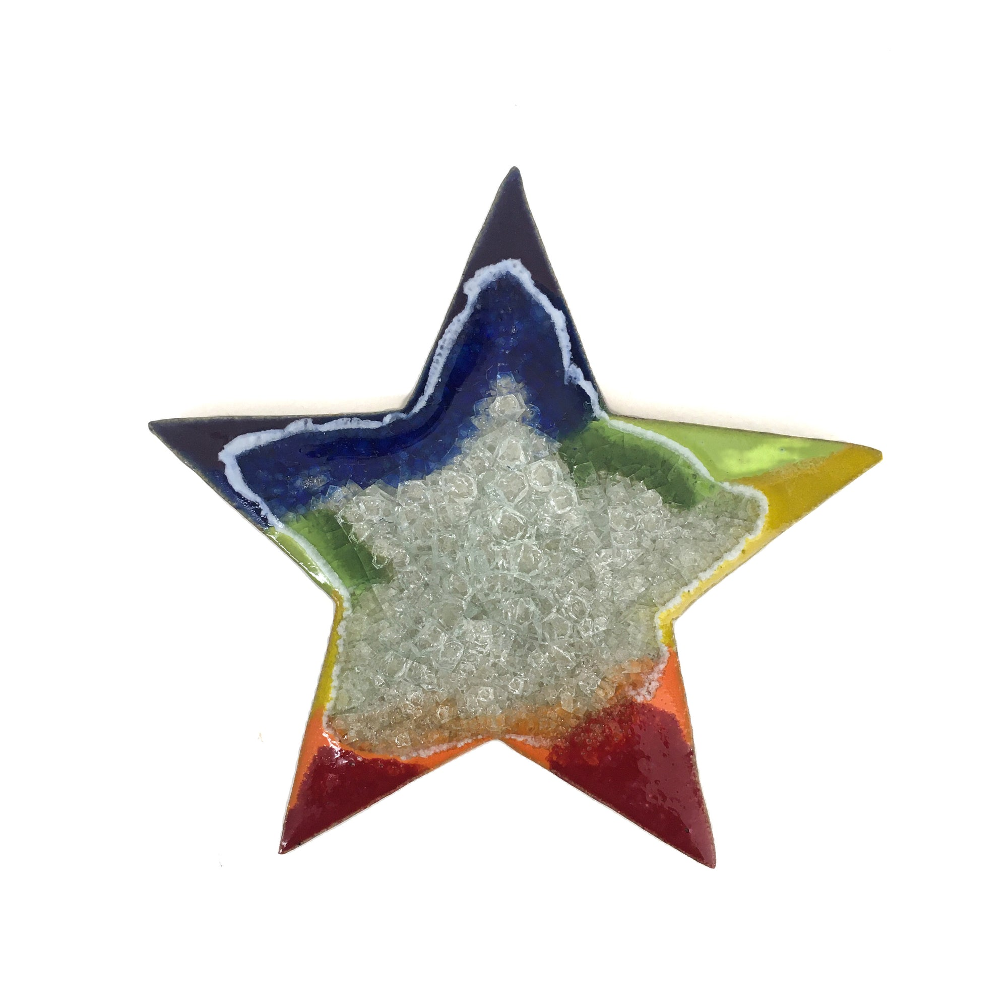 Rainbow Colored Star Coaster