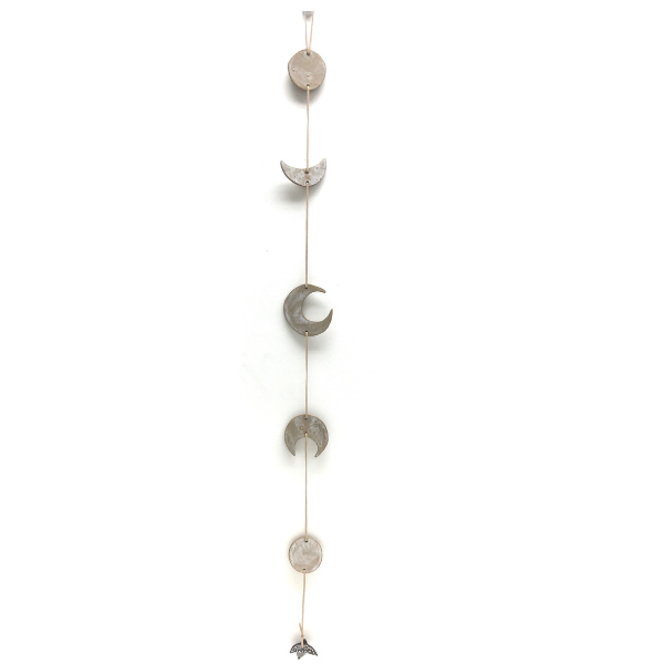 Ceramic Wall Hanging With the Moon Phases