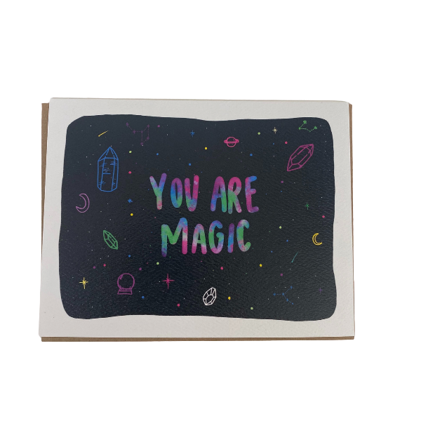 You Are Magic Greeting Card With Gems