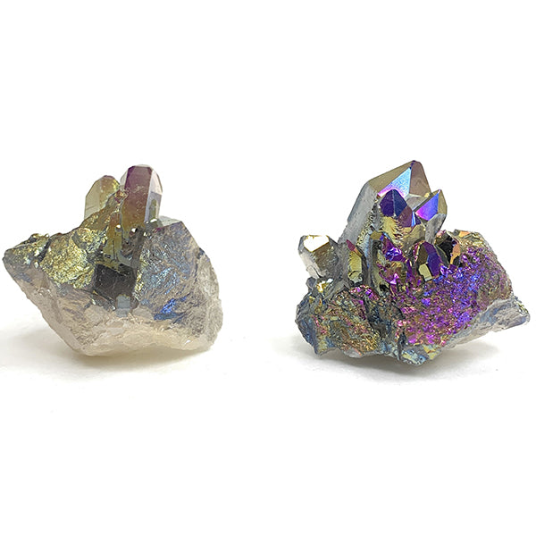 ANGEL AURA Rainbow coated crystal cluster (50 - 55 g)