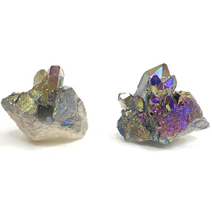 ANGEL AURA Rainbow coated crystal cluster (50 -55 g)