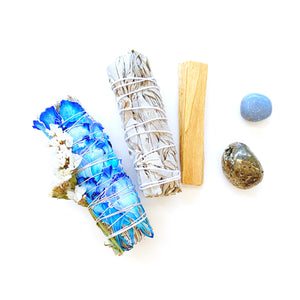 Throat Chakra Blue Sage Smudge Kit