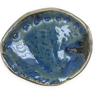 Blue -Green Abalone Shell Shaped Dish