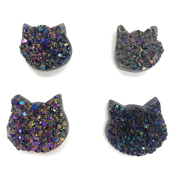 Druzy Crystal Shaped Liked A Cat Head