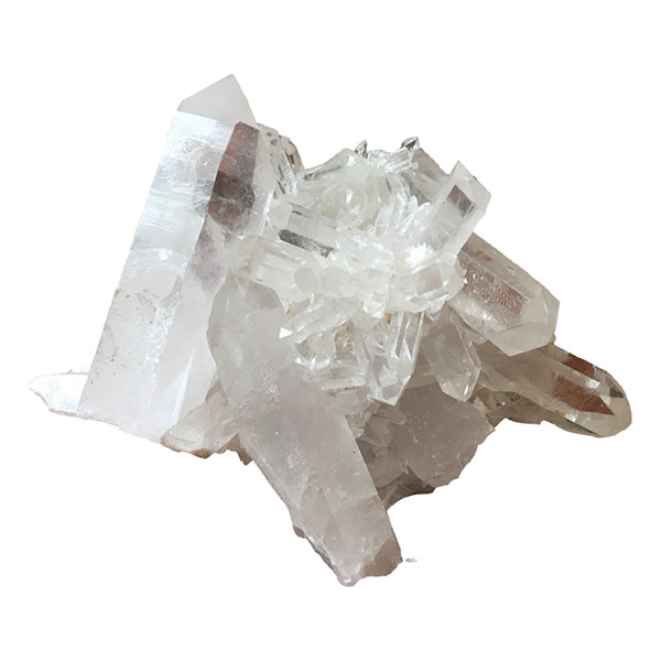 Large Premium Rare Clear White Rock Crystal Cluster