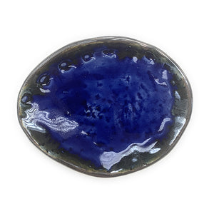 Dark Blue Abalone Shell Shaped Dish